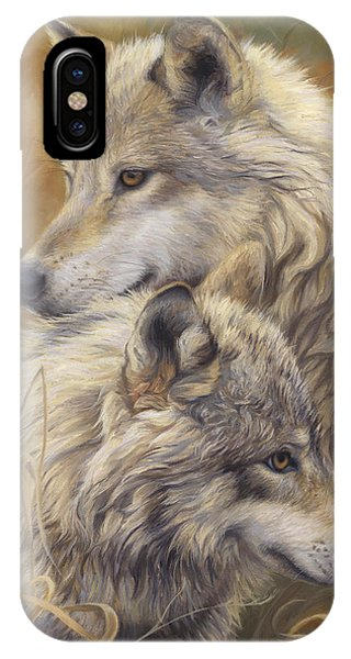 Gray iPhone Case - Together by Lucie Bilodeau
