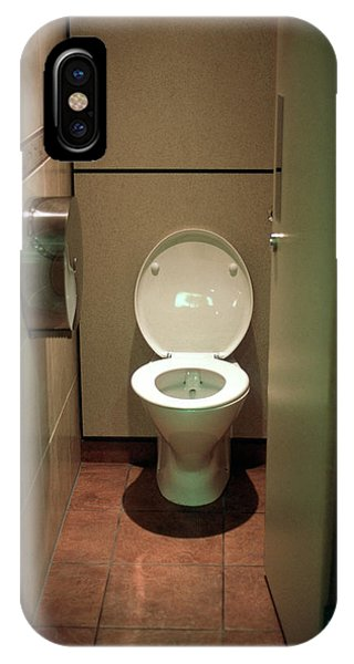 Toilet iPhone Case - Toilet Cubicle by Robert Brook/science Photo Library