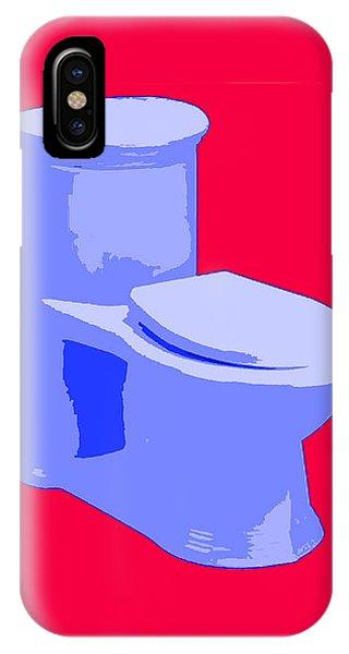 Toilette In Blue IPhone Case