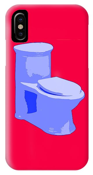 Toilette In Blue IPhone Case