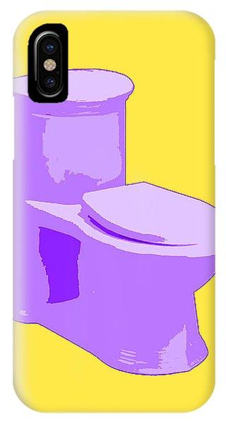 Toilette In Purple IPhone Case