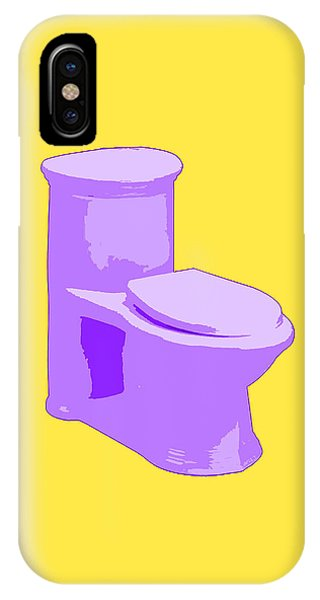 Toilette In Purple IPhone Case