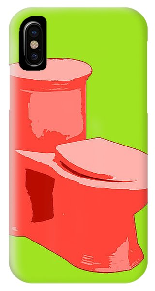 Toilette In Red IPhone Case
