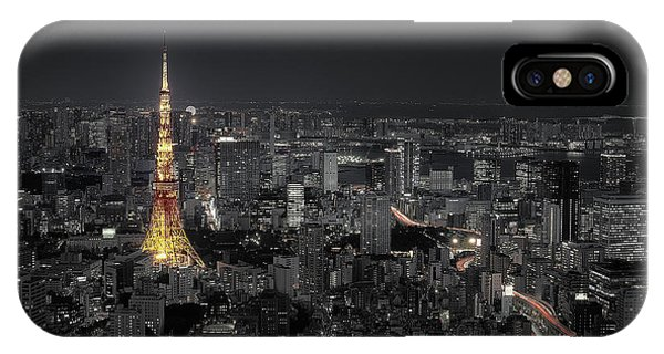 Night iPhone Case - Tokyo At Night by Carlos Ramirez