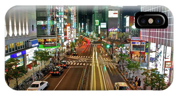 Tokyo Neon Streaks IPhone Case