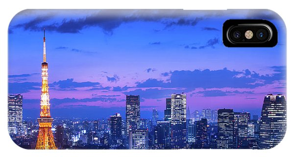Night iPhone Case - Tokyo Night View by Takao Kataoka