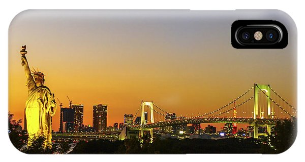 Odaiba iPhone Case - Tokyo Odaiba by Ruth Hofshi