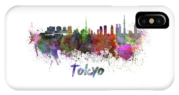 Tokyo Skyline In Watercolor IPhone Case