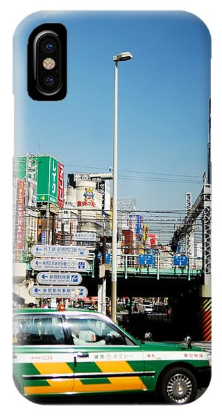Tokyo Time Phone Case by Ruby And Wolf