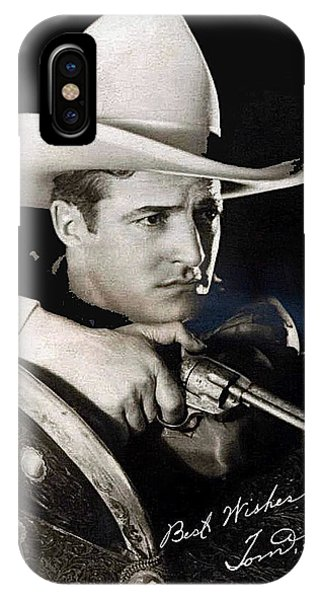 Tom Mix Portrait Melbourne Spurr Hollywood California C.1925-2013 IPhone Case