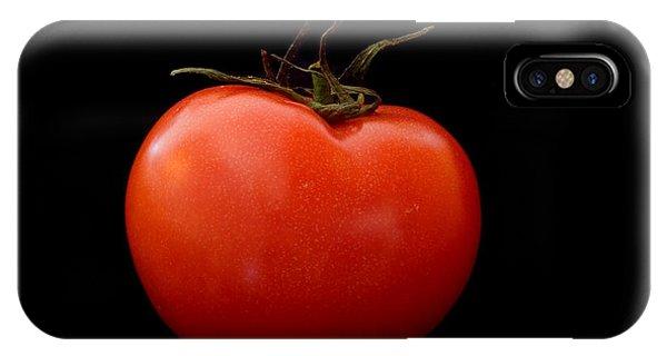 Tomato On Black IPhone Case