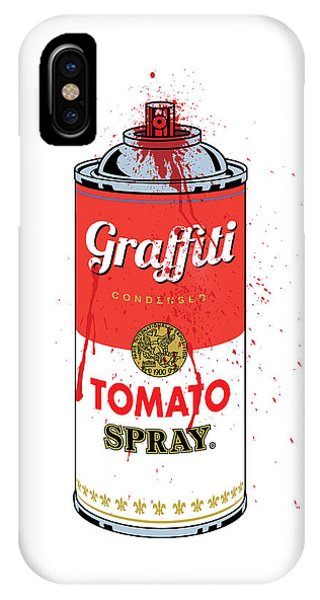 Illustration iPhone Case - Tomato Spray Can by Gary Grayson