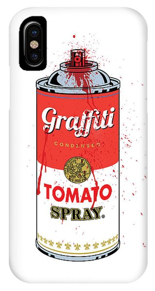 Retro iPhone Case - Tomato Spray Can by Gary Grayson