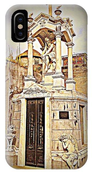 Tomb In Recoleta Cemetary Buenos Aries IPhone Case