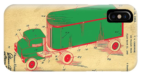 Trucking iPhone Case - Tonka Truck Patent by Edward Fielding