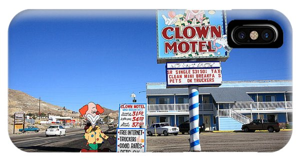 Tonopah Nevada - Clown Motel IPhone Case