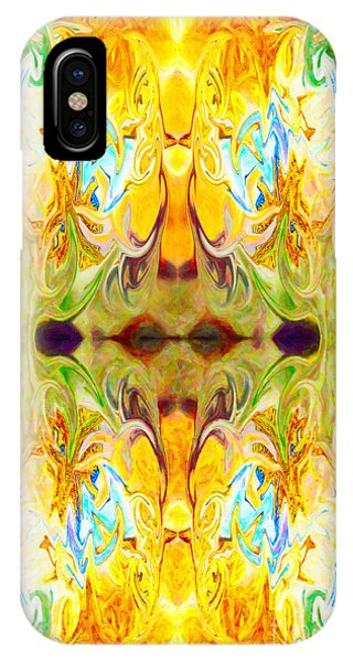 IPhone Case featuring the digital art Tony's Tower Abstract Pattern Artwork By Tony Witkowski by Omaste Witkowski