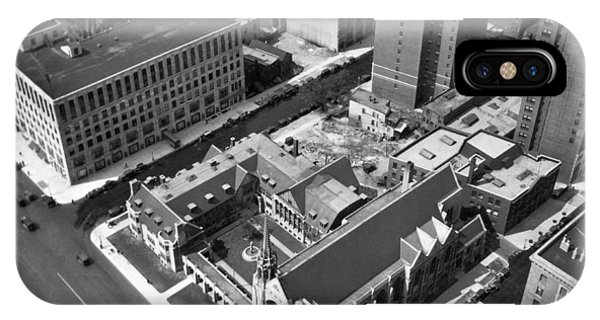 Top Of Palmolive Building View IPhone Case