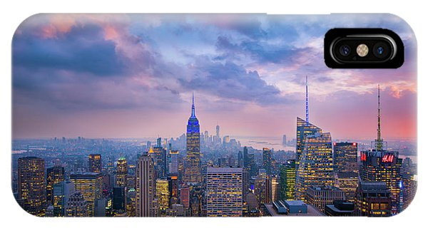Top Of The Rock Phone Case by Michael Zheng