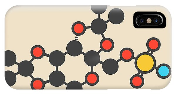 Topiramate Epilepsy Drug Molecule IPhone Case