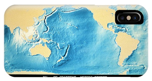 Sea Floor iPhone Case - Topographic Relief Map Of World's Ocean Surface by Nasa/science Photo Library