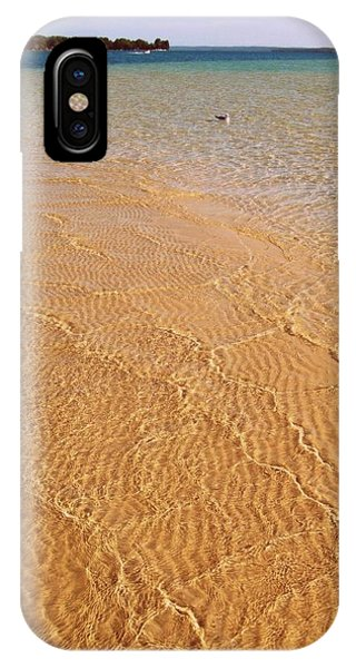 Torch Lake Sandbar IPhone Case