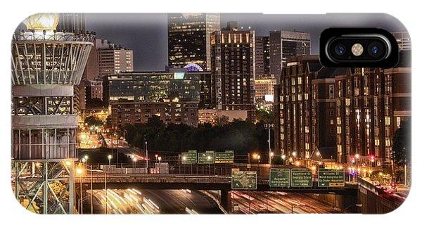Torching Atlanta Phone Case by Lisa Marie Pane
