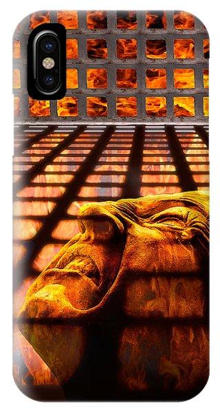 Fire iPhone Case - Tormented Soul by Tom Mc Nemar