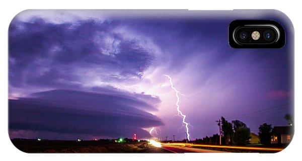 Nebraskasc iPhone Case - Tornado Warning In Northern Buffalo County by NebraskaSC