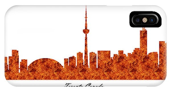 Toronto Canada Raging Fire Skyline IPhone Case