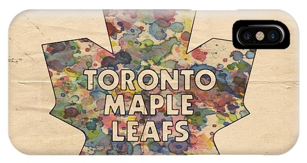 Toronto Maple Leafs Hockey Poster IPhone Case