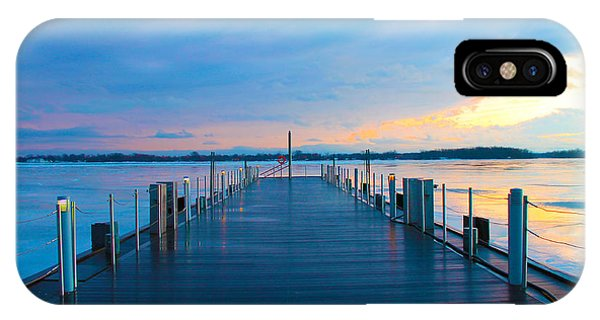 Toronto Pier During A Winter Sunset IPhone Case