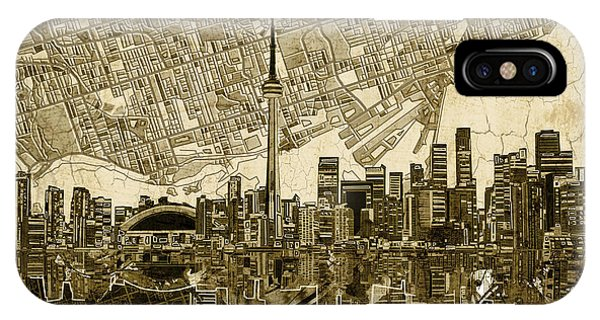 Toronto Skyline Abstract Vintage IPhone Case