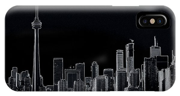 Toronto Skyline Black And White Abstract IPhone Case