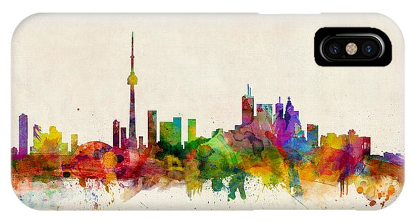Skyline iPhone Case - Toronto Skyline by Michael Tompsett
