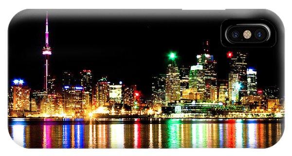 Toronto Skyline Night IPhone Case