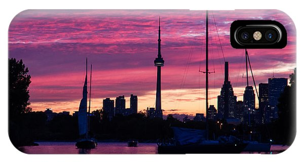 Toronto Skyline - The Boats Are Coming In IPhone Case