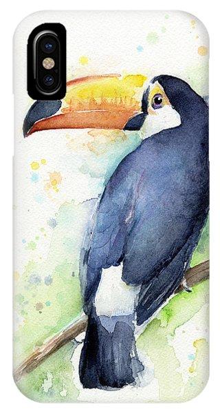 Tropical iPhone Case - Toucan Watercolor by Olga Shvartsur