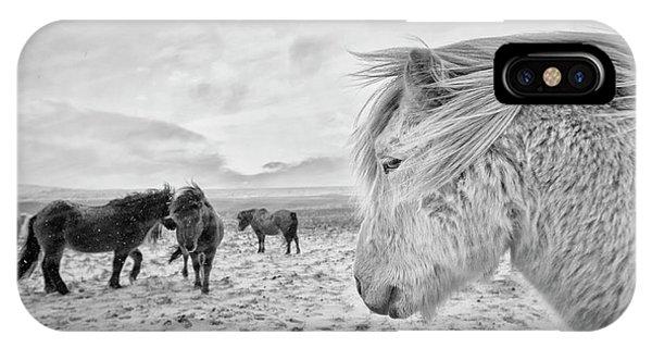 Winter iPhone Case - Tough Guys by John Colbensen