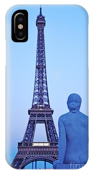 Tour Eiffel And Statue IPhone Case