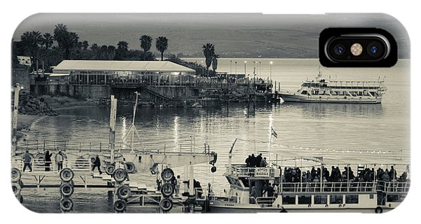 Tourboat At Sea Of Galilee, Tiberias IPhone Case