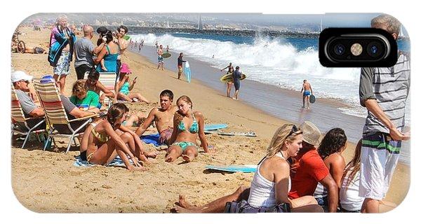 Tourist At Beach IPhone Case