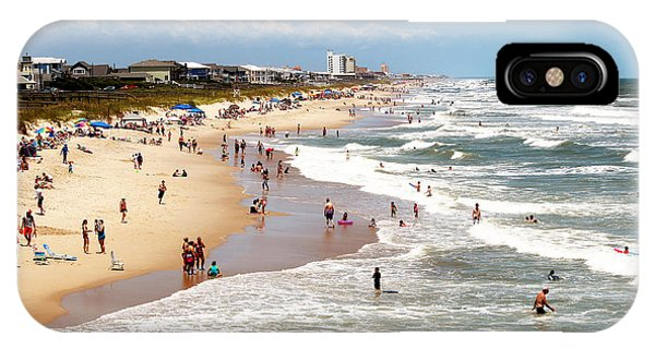 Tourist At Kure Beach IPhone Case