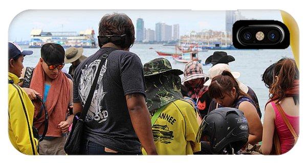 City Scape iPhone Case - Tourist by Michael Kim