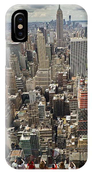 Tourists Viewing Downtown Manhattan IPhone Case