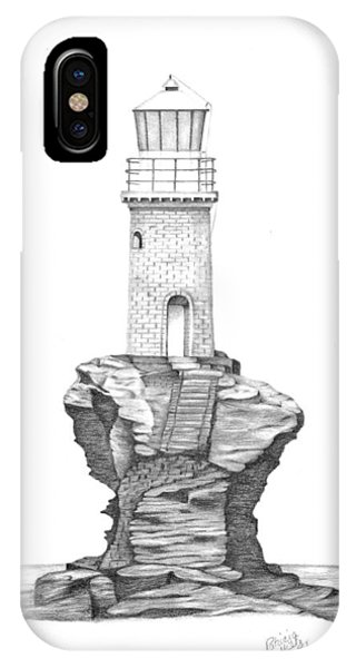 Tourlitis Lighthouse-greece IPhone Case