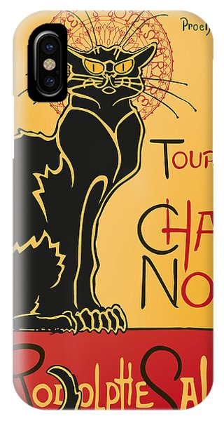 French Painter iPhone Case - Tournee Du Chat Noir - Black Cat Tour by RochVanh