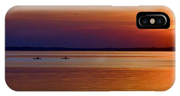 Tours End - Kayak Sunset Photo IPhone Case