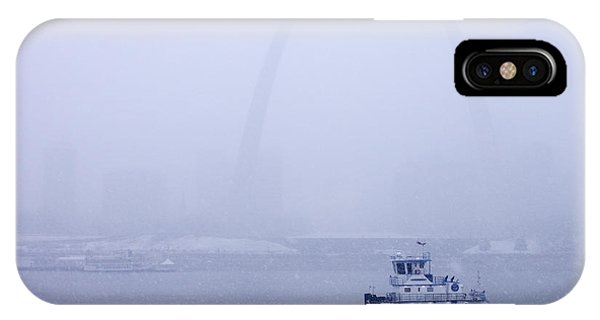 Towboat Working In The Snow St Louis IPhone Case
