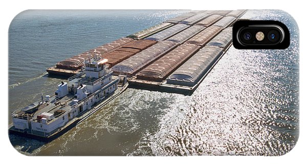 Towboats And Barges On The Mississippi IPhone Case